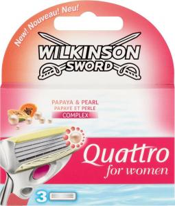Wilkinson Sword Quattro For Women Papaya & Pearl Scheermesjes -