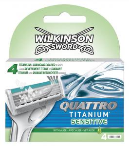 Wilkinson Sword Quattro Titanium Sensitive - 4 Mesjes
