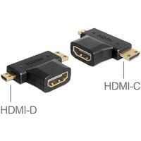 DeLOCK Adapter HDMI-A Female > HDMI-C + HDMI-D Male 65446