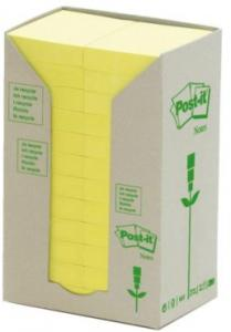 Memoblok 3M Post-it 653-1T 38x51mm 24 Stuks Recycled Geel