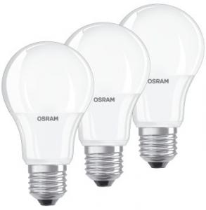 Osram LED STAR Normaal E27 9W 3-pack