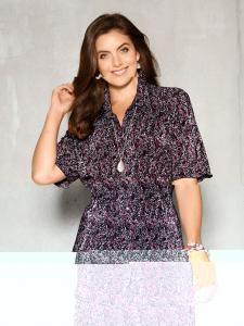 Blouse M. Collection Fuchsia Gedessineerd