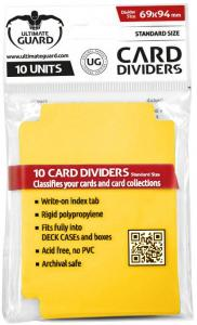 Ultimate Guard Card Dividers Standard Size Yellow 10