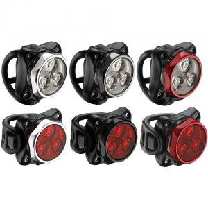 Lezyne Zecto Drive Y9 Light Set - Black/Red