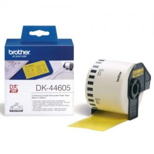 Etiket Brother DK-44605 62mm Thermisch 30-meter Geel Papier