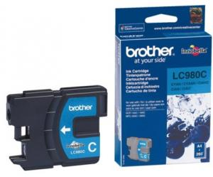 Inkcartridge Brother LC-980C Blauw