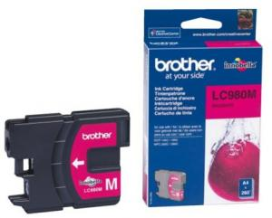 Inkcartridge Brother LC-980M Rood