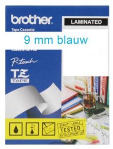 Labeltape Brother P-touch TZE223 9mm Blauw Op Wit