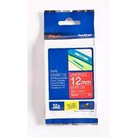 Brother TZe Tape Voor P-Touch 12 Mm Wit Op Rood