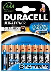 Duracell Batterijen - Ultra Power AAA 8st