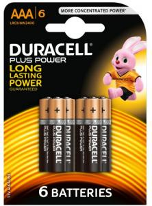 Duracell Batterijen - Plus Power Alkaline AAA 6 Stuks