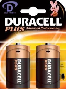 Duracell Plus Power Batterijen - D 2 Stuks