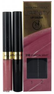 Max Factor 2Steps Lipstick - Lipfinity Essential Violet 310