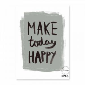 Stapelgoed Poster 50 X 70 Cm - Happy