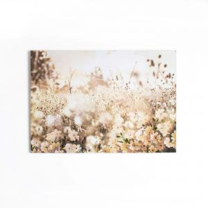 Graham & Brown Canvas Layered Meadow Landscape - Bruin 100x70 Cm