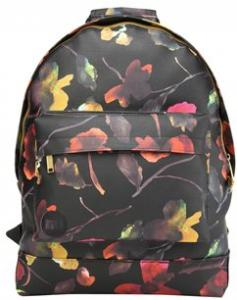 Mi-Pac Gold Watercolour Floral Backpack Black