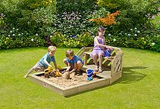 Plum Wooden Sand Pit And Bench