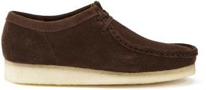 Clarks Originals Men Wallabee Shoes - Dark Brown Suede UK 11