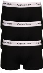 Calvin Klein 3 Pack Trunk Low Rise Zwart Extra Large