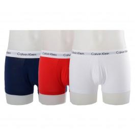 Calvin Klein - 3-pack Low Rise Trunk Boxershorts Wit / Blauw Roo