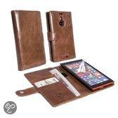 Tuff-Luv Vintage Genuine Leather Wallet Case Cover For Nokia Lum