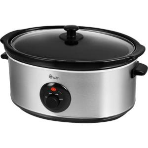 Swan Stainless Steel Slow Cooker 6.5L