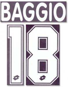 Baggio 18 1995 AC Milan Home Flock Name And Number