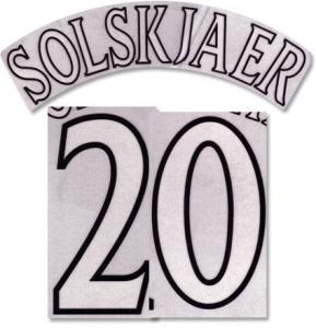 Solskjaer 20 Offici Manchester United Champions League Printing