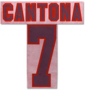 95-96 Man United Away Cantona 7 Flock Name And Number