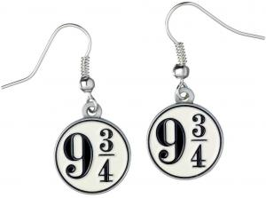 Harry Potter Platform 9 3/4 Earrings Silver Plated