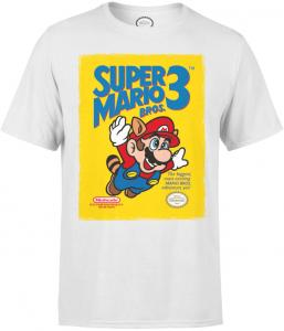 Nintendo Super Mario Bros 3 Heren T-shirt - Wit M