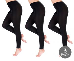 3-Pack Thermo Brushed Fleece Leggings - Warme Voor De..