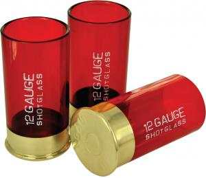 12 Gauge Cartridge Shaped Shot Glass Pack Of 4