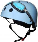 Kiddimoto Goggle Helmet - Blue Small