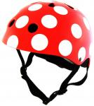 Kiddimoto Helm Red Dotty Medium - 58 Cm