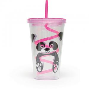 Panda Straw Cup - Multi 16oz