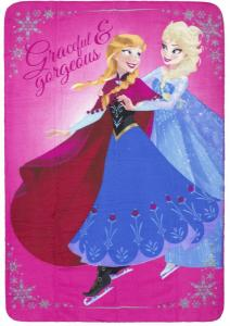 Disney Frozen Fleece Plaid Rose Graceful 100x140cm