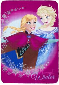 Disney Frozen Fleece Plaid Rose Winter 100x140cm