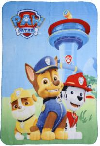 Paw Patrol Fleece Plaid Chase Marshall Rubble 100x140cm