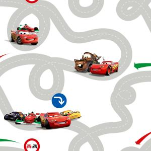 Kids At Home Behang Cars Racetrack Meerkleurig DF72599