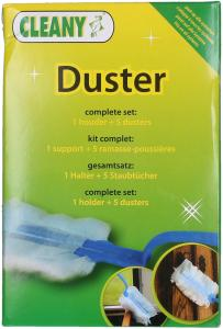 Cleany Duster Houder + 5 Stoffers (5412276100837)