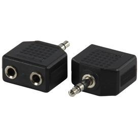 Valueline AC-012 Adapter Plug 3.5 Mm Stereo Stekker - 2x Kontra