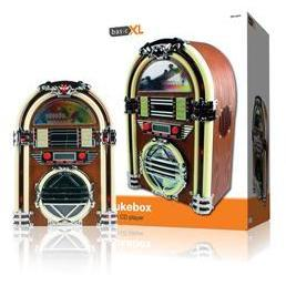Basicxl BXL-JB10 Retro Jukebox Met AM/FM Radio En CD-Speler