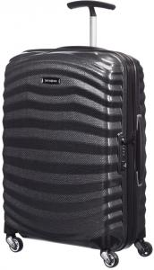 Samsonite Lite-Shock Spinner 55 Black Harde Koffer