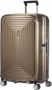 Samsonite Neopulse Spinner 69 Metallic Sand Harde Koffer