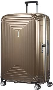 Samsonite Neopulse Spinner 75 Metallic Sand Harde Koffer