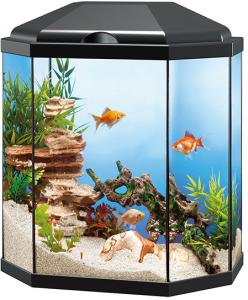Aquarium Hexagon Zwart 30 Ltr