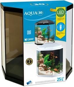 Aquarium Hexagon Wit 30 Ltr