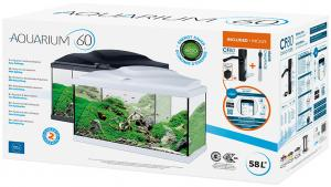Aquarium 60 Light Zwart 54 Ltr