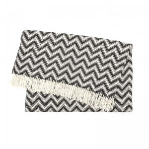 Plaid Elvang Zigzag Black/White